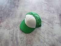 Зеленая кепка тракер с белой лобовой частью, фото 1