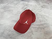 Бордовая кепка Джордан (Jordan) на резинке