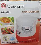 Мультиварка Domotec DT-1801 6 л, 12 программ (900W), фото 7
