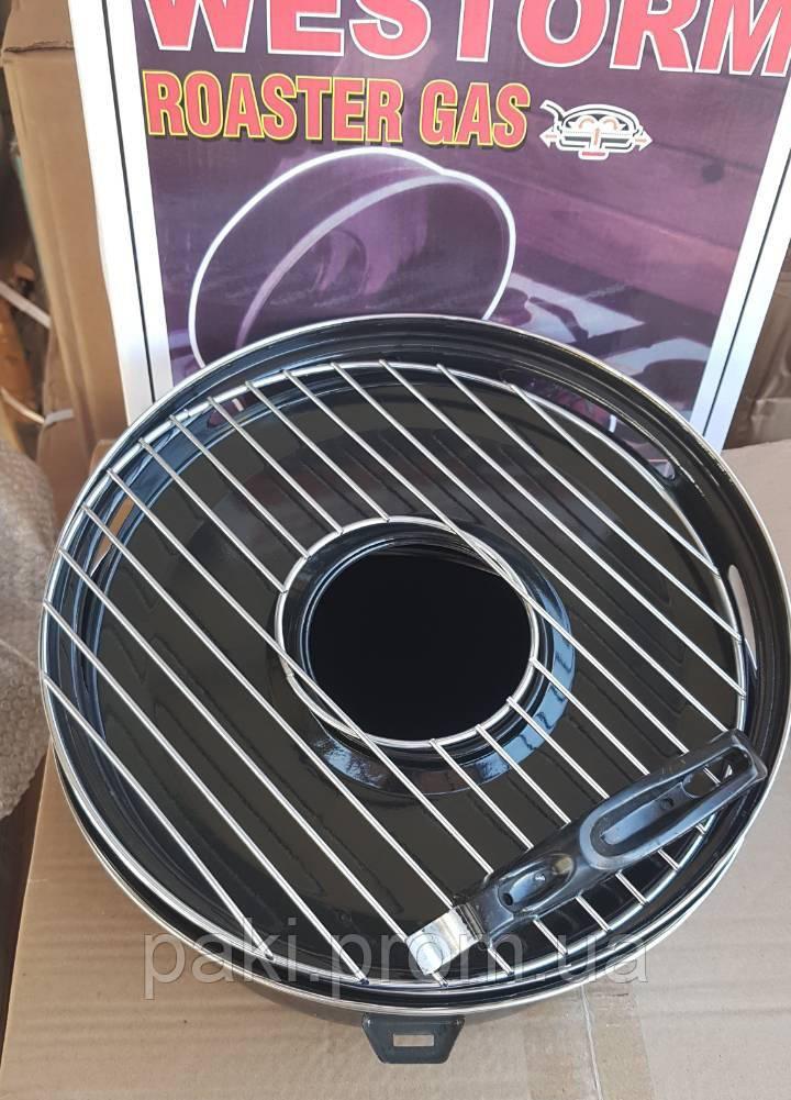 Сковорода гриль-газ с мраморным покрытием WESTORM RG 32 см