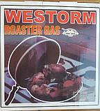 Сковорода гриль-газ с мраморным покрытием WESTORM RG 32 см, фото 2