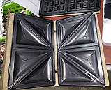 Тостер универсальный WimpeX WX1057 (3 в 1) бутербродница гриль, вафельница, сэндвичница , фото 6