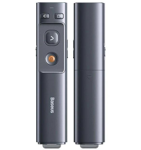 Baseus / Пульт для презентаций с лазерной указкой BASEUS Orange Dot Wireless Presenter ACFYB-BOG, серый
