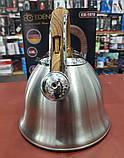 Чайник со свистком 3.0 л. EDENBERG EB-1978 (нержавеющая сталь), фото 4