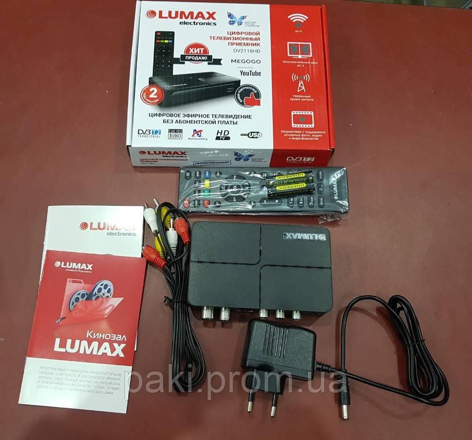 Эфирная цифровая приставка для телевизора DVB-T2 Lumax DV2118HD (WiFi / USB / FullHD)