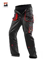 Брюки рабочие-защитные со съёмной утепленной подкладкой SteelUZ 4S с красной отделкой, спецодежда