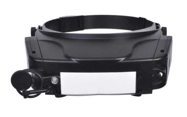 Лупа бінокулярна Magnifier MG81007-C з Led підсвічуванням Чорний (KG-437)