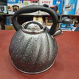Чайник со свистком A-PLUS WK-1328 3 л. (нержавеющая сталь), фото 3