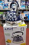 Чайник со свистком A-PLUS WK-1376 3 л. (нержавеющая сталь), фото 5