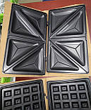 Бутербродница, вафельница, сэндвичница (3 в 1) Rainberg RB-642 (1500W), фото 6