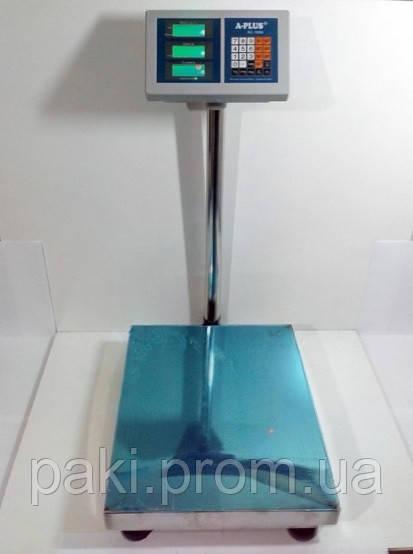 Ваги торгові електронні A-PLUS 1658 до 300 кг (50x40 см)
