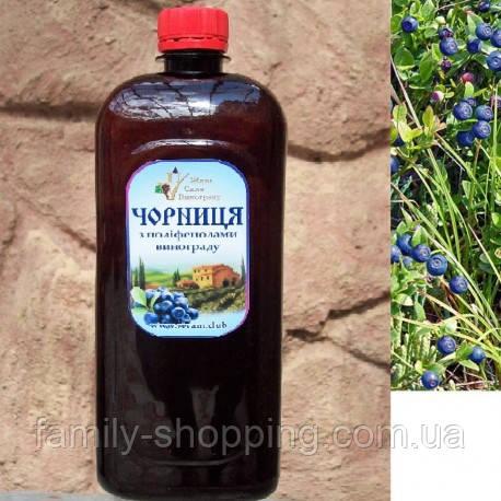 Черника с полифенолами винограда, питьевой комплекс, 1 л