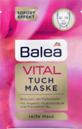 Balea Tuchmaske VITAL  тканевая маска от морщин 1 шт