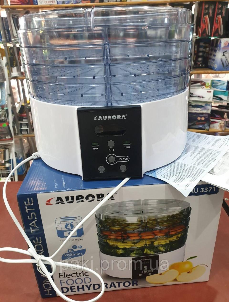 Електрична сушарка для фруктів і овочів Aurora AU 3371 (4 яруси)