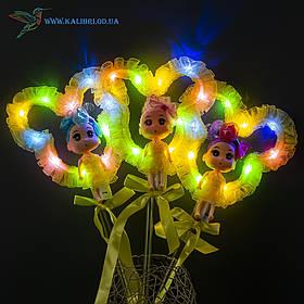 Світяться палички Лялечки з Міккі светяшки жовті