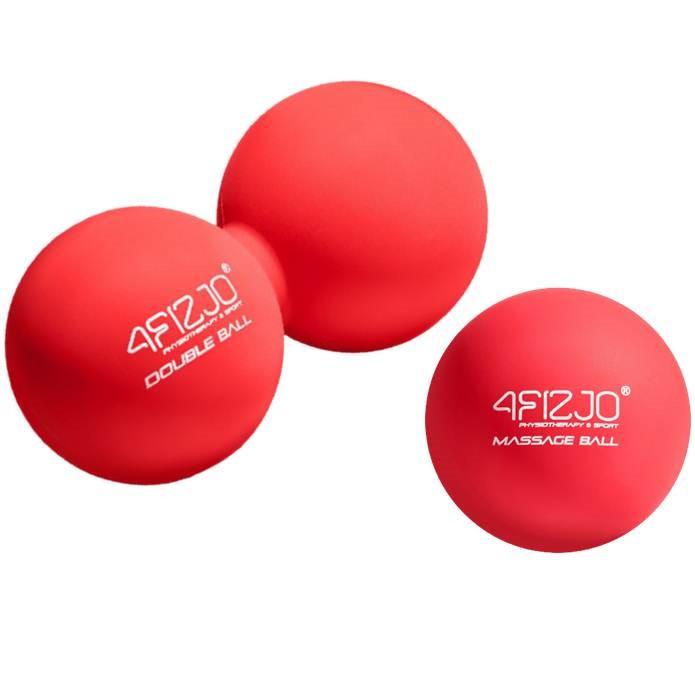 Набор массажных мячиков 4FIZJO Lacrosse Ball 6.5 x 13.5 см для самомассажа, фитнеса, йоги (4FJ1202-1219)