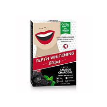 """Відбілюючі смужки для зубів GLOBAL WHITE """"Деревне Вугілля"""" 7 днів, №7"""