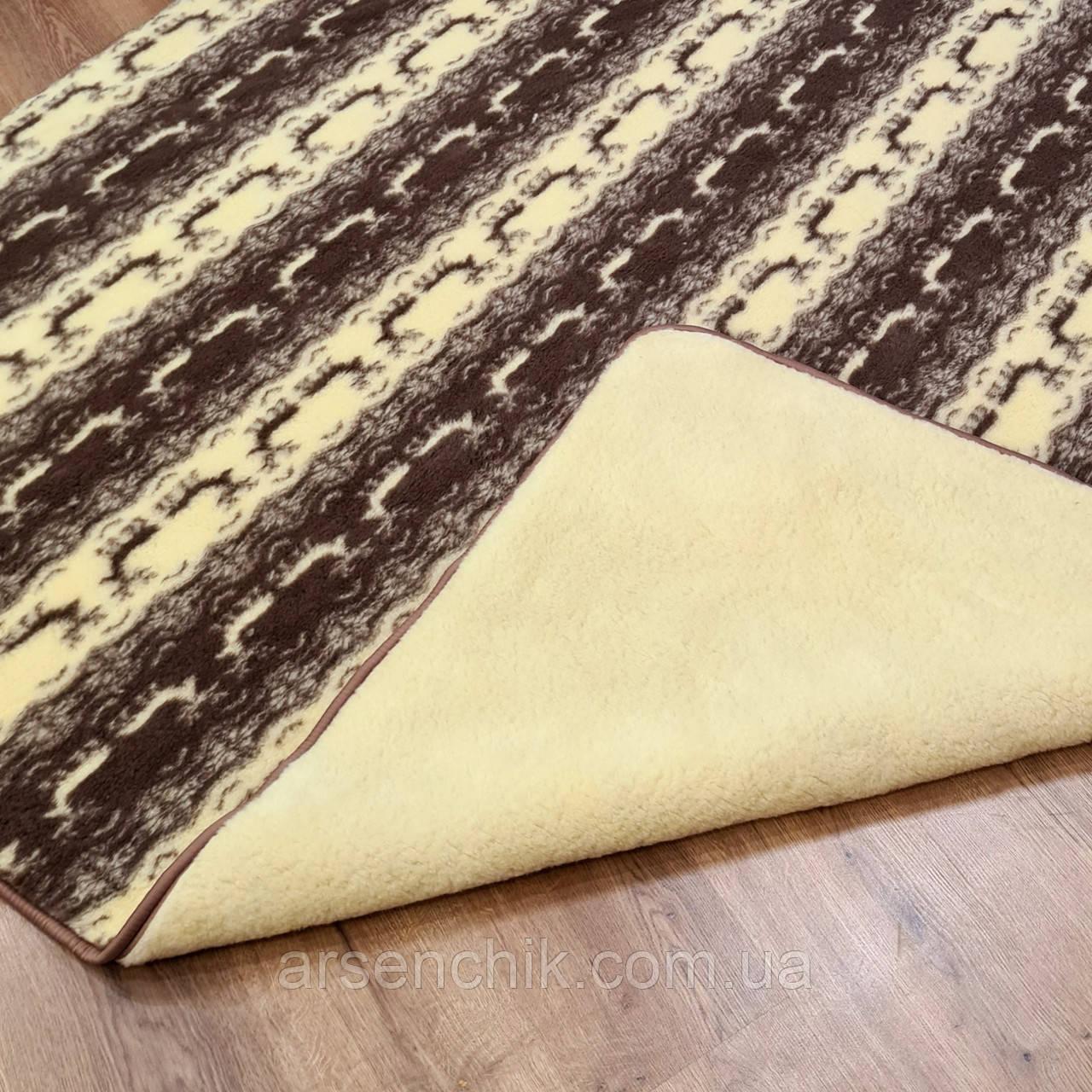 Одеяло двухслойное из овчины полуторное 150х215