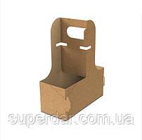 Холдер / Картонний тримач 169х76х217 мм для 2 (двох) стаканів (ящ.:350 шт)