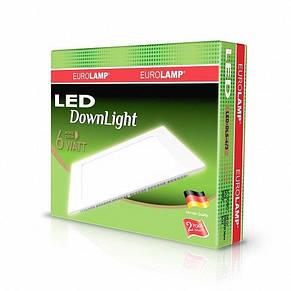 Светильник светодиодный встраиваемый EUROLAMP Downlight 6W 3000K (LED-DLS-6/3), фото 2