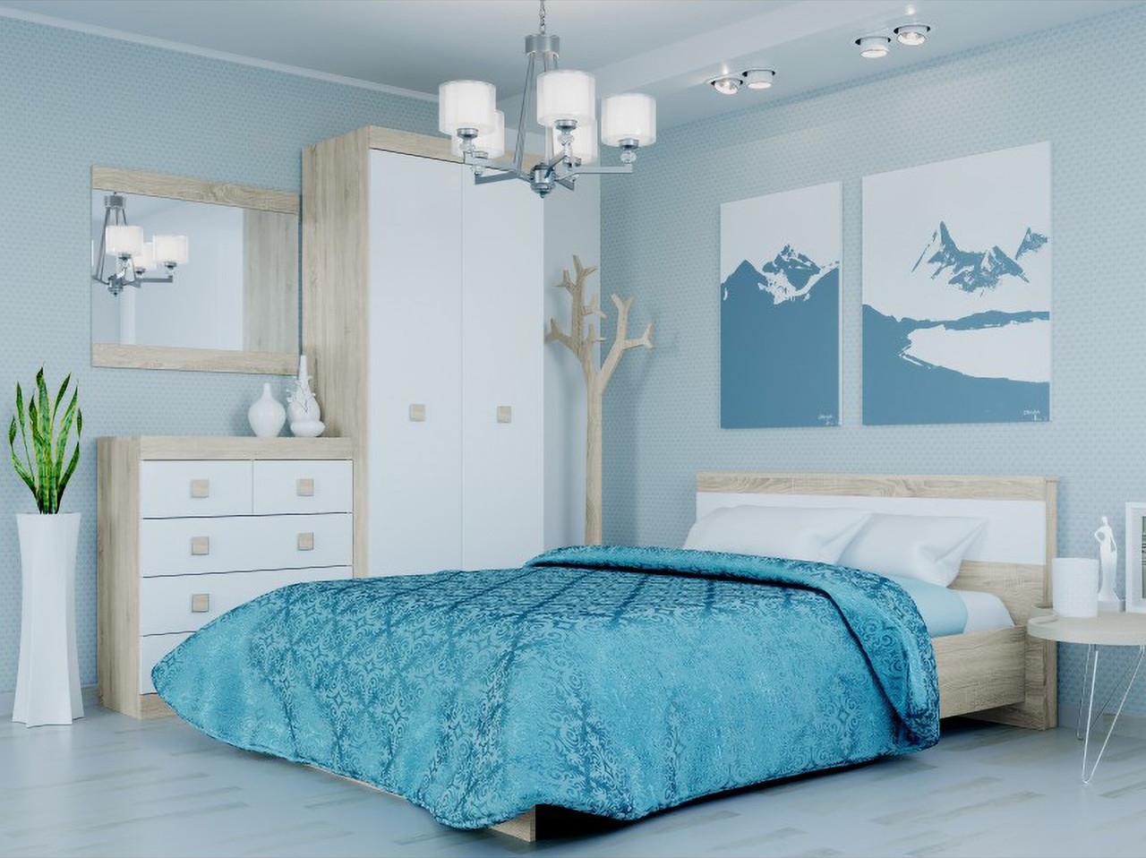 Спальня комплект 2 ЭВЕРЕСТ Венге темный + Белый, фото 2