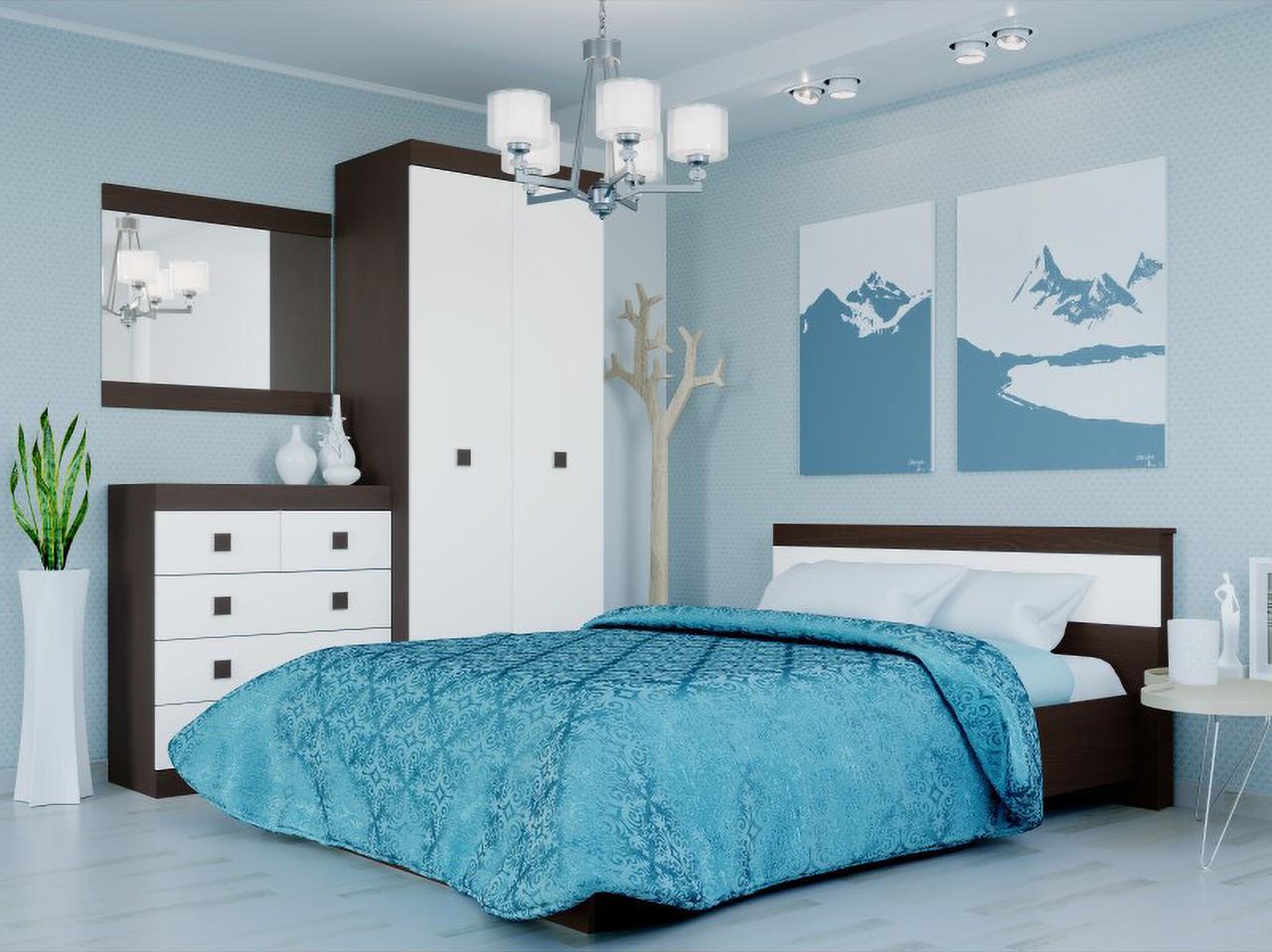 Спальня комплект 2 ЭВЕРЕСТ Венге темный + Белый, фото 1