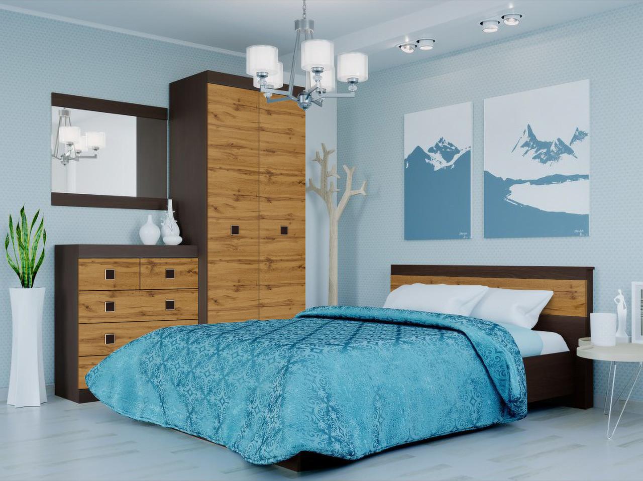 Спальня комплект 2 ЭВЕРЕСТ Венге темный + Белый, фото 3