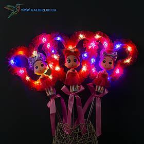 Світяться палички Лялечки з Міккі светяшки малинові