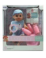 Кукла пупс интерактивнаяиональный с аксессуарами, горшок, памперс, в короб. 29х12х31,5см