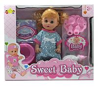 Кукла функц. с аксессуарами и горшком пьет, писает в коробке 38х32х10см