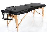 Стол массажный черного цвета из двух секций с подъёмом высоты RESTPRO VIP 2