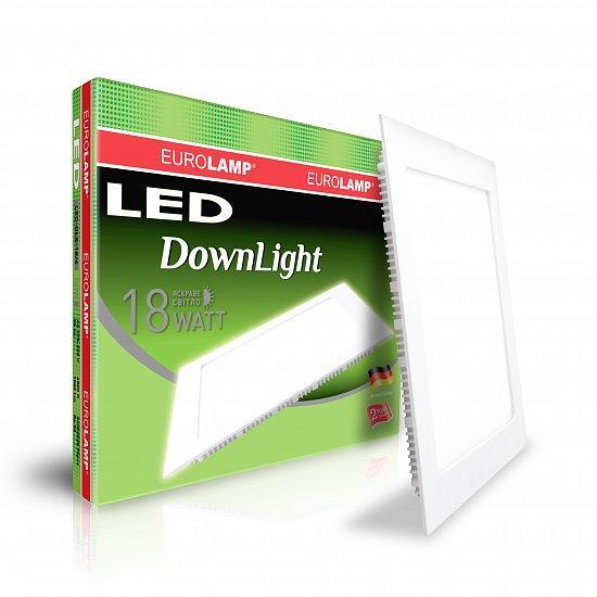Светильник светодиодный встраиваемый EUROLAMP Downlight 18W 4000K (LED-DLS-18/4)