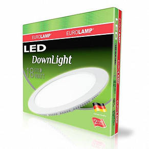 Светильник светодиодный встраиваемый EUROLAMP Downlight 18W 4000K (LED-DLR-18/4), фото 2