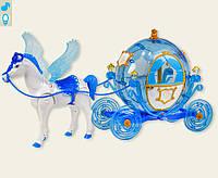Карета с лошадью для куклы 219B   звук, лошадка с крыльями ходит,в коробке 60*20*33,4 см