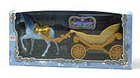 Лошадь с каретой в короб. 28х13х7см