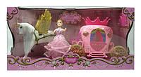 Карета с лошадью для куклы с куклой в коробке 42х21х14см