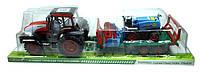 Игрушка трактор большой инерционный, 0488-192, подвижные детали, в слюде 83х22х24см