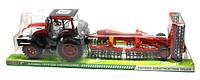 Игрушка трактор большой с жаткой инерционный, 0488-156 в слюде 88х23х23см