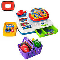 """Кассовый аппарат игровой набор детский """"Мой магазин"""" Limo Toy 7019"""