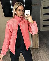 Женская теплая Куртка вельветовая куртка с подклаткой