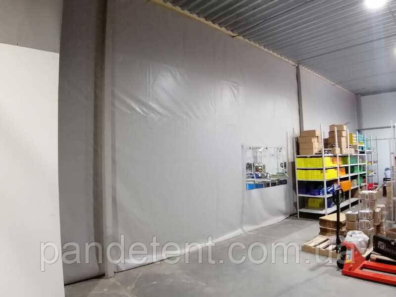 Промышленные шторы перегородки для защиты от холода, влажности, пыли из прозрачной ПВХ пленки