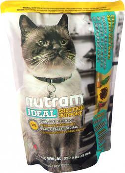 Сухой корм для кошек с чувствительным пищеварением и проблемами кожи и шерсти I19 NUTRAM 320 г