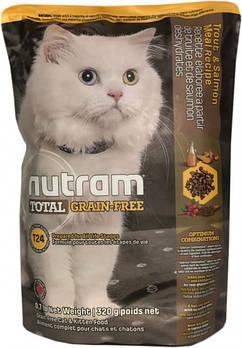 Беззерновой сухой корм для кошек на всех стадиях жизни с лососем и форелью T24 NUTRAM 320 г