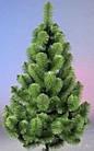 Сосна искусственная зеленая Микс 1.5 м, новогодняя зеленная сосна жилка-ПВХ с подставкой, фото 3