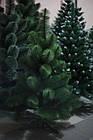 Сосна искусственная зеленая Микс 1.5 м, новогодняя зеленная сосна жилка-ПВХ с подставкой, фото 7