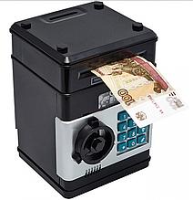 Детская копилка сейф NUMBER BANK 6844 с кодовым замком и купюроприемником для бумажных денег и монет