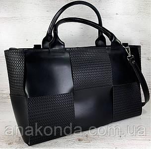 720 Натуральная кожа Женская сумка кожаная черная формат А4 плетеная Сумка из натуральной кожи большая 2020