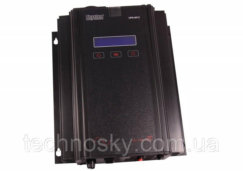 ИБП для котла с чистой синусоидой Phantom UPS-0512, 500Вт / 700В