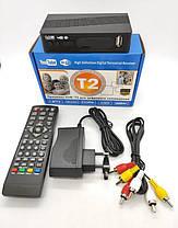 Цифровой ТВ тюнер MEGOGO DVB металлический корпус T2 ресивер с IPTV, USB, фото 2