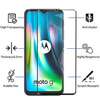 Защитное стекло для Motorola Moto G9 Play черный, фото 1